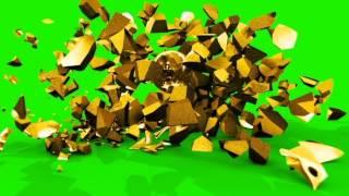 getlinkyoutube.com-Green Screen Slow Motion Exploding Skull - Footage PixelBoom