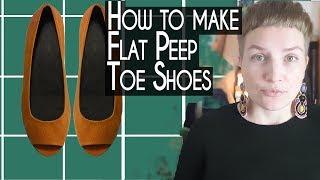getlinkyoutube.com-How to make shoes: Making Flat Peep Toe Women Shoes- Part 1