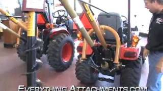 getlinkyoutube.com-Post Hole Digger for Compact and Sub Compact Tractors