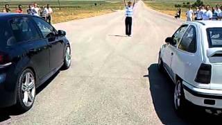 Opel Kadett GSi Turbo .vs. Golf VI R