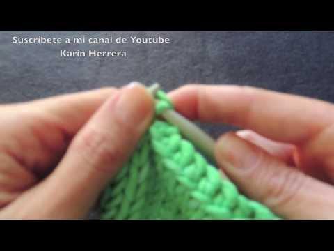 Curso básico de tejido - Cómo rematar puntos