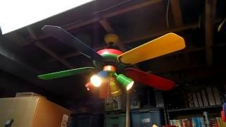 getlinkyoutube.com-1998 Hampton Bay Carousel 52'' Ceiling Fan Model CD-5201