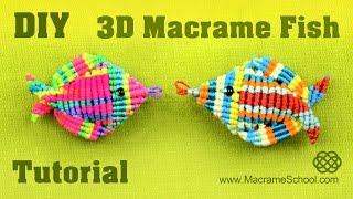 getlinkyoutube.com-3D Macramé Fish Tutorial - Pesce, Pescado, Poisson, Peixe, Fisch