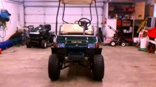 getlinkyoutube.com-2003 Electric Club Golf Cart 8 inch lift kit with big wheels!