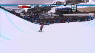 getlinkyoutube.com-Winter X Games Europe 2011 - Sarah Burke Wins Ski Women's Superpipe Gold