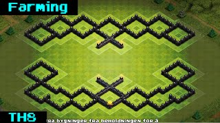 getlinkyoutube.com-Clash Of Clans | EPIC TH8 FARMING BASE 2015 [Bunker]