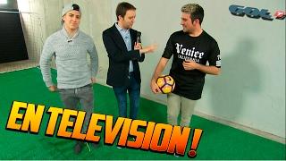 getlinkyoutube.com-VOY A LA TELEVISION Y HAGO UN RETO DE FUTBOL !! - ElChurches