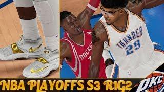 getlinkyoutube.com-NBA 2K15 MyCAREER S3 Playoffs R1G2 - FLAMING White & Gold KD7's! Harden Gets His ANKLES BROKEN!!