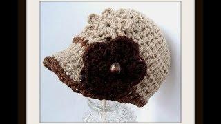 getlinkyoutube.com-CROCHET PATTERN, ASHTON NEWSBOY CAP, how to crochet a hat