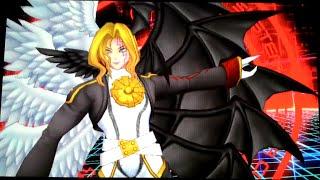getlinkyoutube.com-Digimon Story: Cyber Sleuth - Battle Lucemon: Falldown/Satan Mode !!! [DLC]