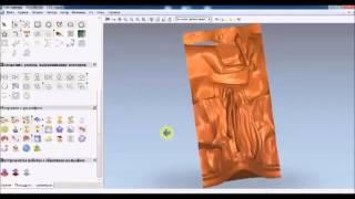 getlinkyoutube.com-Видеоурок Составление УП для поворотной оси ЧПУ часть 1 статуэтка