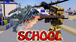 Minecraft School | Military School of Mods - CrazyCraft! (Orespawn, Weapons, Bosses)