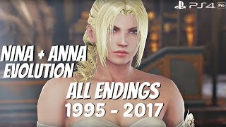 TEKKEN SERIES - All Nina + Anna Williams Ending Movies 1995 - 2017 (1080p 60fps)