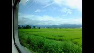getlinkyoutube.com-鉄道走行音/キハ120系,JR磐越西線(快速 あがの 新潟ゆき:会津若松→新潟) 2014年8月