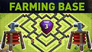 getlinkyoutube.com-Clash of Clans NEW TH9 2 Air Sweeper FARMING BASE - Town Hall 9 UPDATE BASE