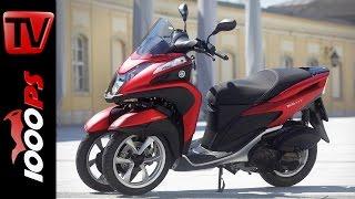 getlinkyoutube.com-Yamaha Tricity Test 2016 | Onboard, Fahrverhalten - Dreirad Roller - Unstürzbar?