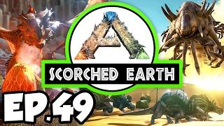 getlinkyoutube.com-ARK: Scorched Earth Ep.49 - FIGHT 2 ALPHA WYVERNS, LIGHTNING WYVERN EGG! (Modded Dinosaurs Gameplay)