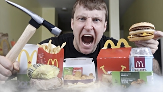 Science Experiment LIQUID NITROGEN vs McDONALD'S (DANGER ALERT) EXPLOSION