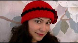 getlinkyoutube.com-How To Crochet a Red Flower Hat Step By Step Tutorial
