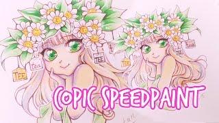 getlinkyoutube.com-COPIC Speedpaint: Tea-Girl ★ Chibi Style