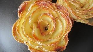 getlinkyoutube.com-Recettes de roses en pommes de terre