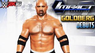 getlinkyoutube.com-TNA on POP TV: Goldberg debuts on iMPACT Wrestling - WWE 2K16 (PS4/XBOX ONE)