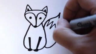 getlinkyoutube.com-How to Draw a Cartoon Fox