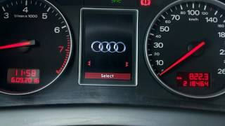 getlinkyoutube.com-Audi A4 B6 - color instrument cluser - English version