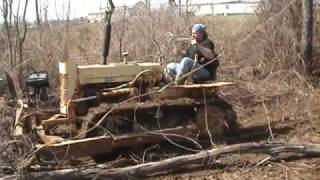 getlinkyoutube.com-Cleaning up the woods with the bulldozer