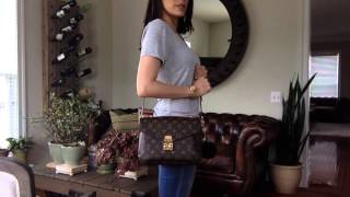 getlinkyoutube.com-Wearing Louis Vuitton Pochette Metis