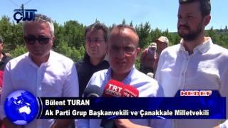 Bülent Turan, Lapseki'de Tarlada Ekinleri Zarar Gören Çiftçileri Dinledi