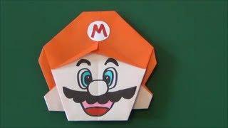"""スーパーマリオ「マリオ」折り紙Super Mario""""Mario"""" origami"""