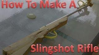 getlinkyoutube.com-How To Make A Slingshot Rifle, Crossbow  POWERFULL!!!!