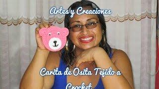 getlinkyoutube.com-CARITA DE OSITA (APLICATIVO) TEJIDO A CROCHET