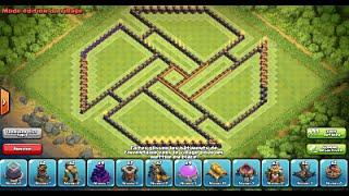 "getlinkyoutube.com-Clash of Clans: New Update 275 walls/murs! Best Farming Base ""Shuriken"" HDV10/TH10"