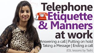 Telephone Etiquette for better business calls - Telephone skills at work ( Business English Lesson) width=