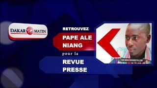 Ecoutez la revue de presse en français de Pape Alé Niang du 20 juillet 2018
