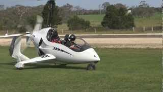 Flying Sean's Arrowcopter gyroplane for the first time