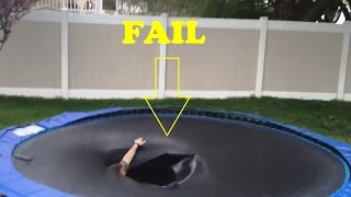 getlinkyoutube.com-Trampoline Jump Fails Compilation 2015 [NEW]