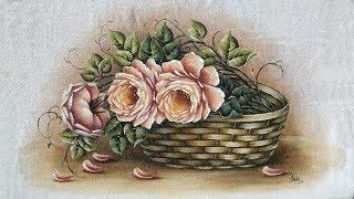Cesta com Rosas Salmão - Part 1