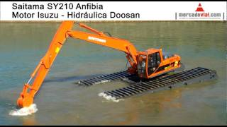 getlinkyoutube.com-Excavadoras Anfibias Saitama Pantanos en Argentina tipo Big Float