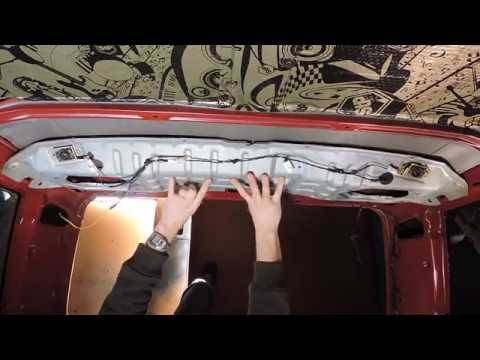 Полочка под динамики и теплошумоизоляция потолка Nissan Terrano 2.7