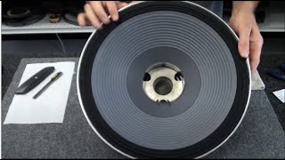 getlinkyoutube.com-JBL Speaker 2226 Recone Repair Subwoofer