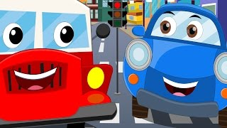 getlinkyoutube.com-Happy and Sweety | look left | car rhymes for children