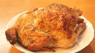 ダッチオーブンと薪ストーブを使った鶏の丸焼き roast chicken