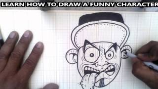 How to draw a funny character - graffiti character