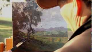 """getlinkyoutube.com-""""Stirling Afternoon"""", plein air oil painting by Andy Dolphin"""