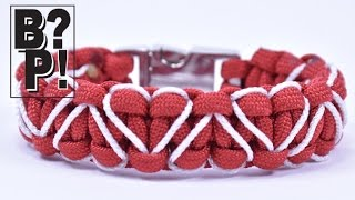 "getlinkyoutube.com-Make the ""Heart Stitched"" Paracord Survival Bracelet - BoredParacord.com"
