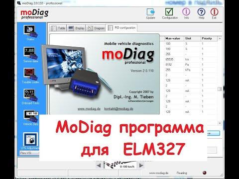 MoDiag программа для ELM327