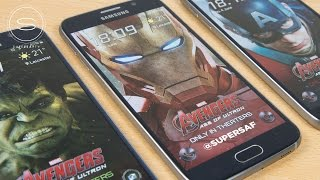 getlinkyoutube.com-Galaxy S6 Iron Man/Hulk/Avengers Edition FREE Themes | SuperSaf TV